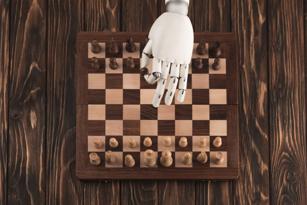 Artificial Intelligence Hand Playing Chess